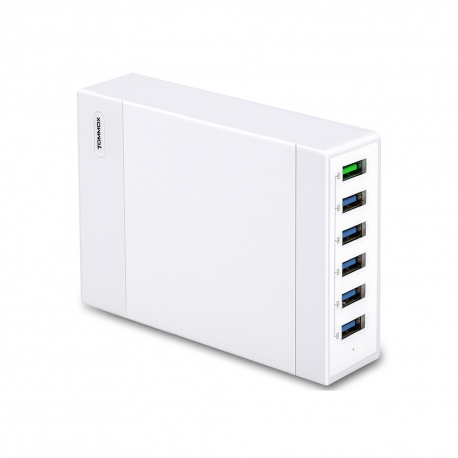6-Port 60W Fast Charge USB Wall Charger Charging Station Hub Multi-Port QC2.0 Quick Charge